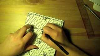 Time Lapse: Drawing, Designing Tile/wallpaper