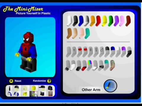how to make a lego spiderman on minimizer.com
