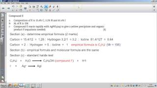 How to identify Organic unknowns from expt data 2