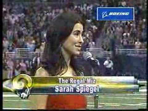 Sarah Spiegel Sings The National Anthem at Edward Jones Dome Video