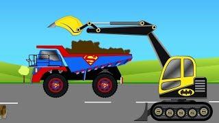 Thử thách cùng BATMAN lái xe máy xúc | Video dành cho trẻ em.