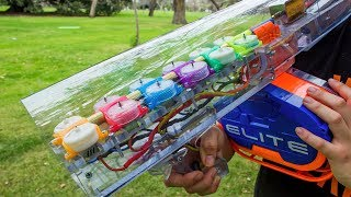 INFINITY NERF BLASTER WITH 6 FLYWHEEL CAGES