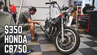 Cheap CB750, Will it Start? Cross Kart Build Pt. 4