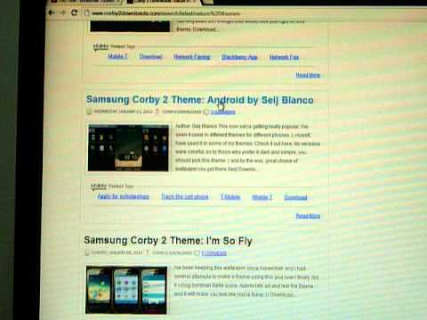 How To Download Samsung Corby 2 Themes video