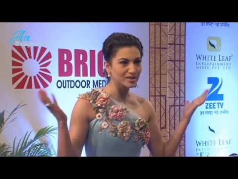 Gauhar Khan in Sexy Gown to Host Zee Gold Awards