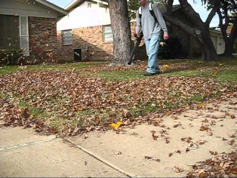 Leaf Blowing with the ECHO PB 500T Backpack Blower