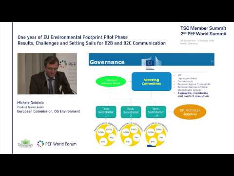 Michele Galatola | European Commission - One year of EU Environmental Footprint Pilot Phase