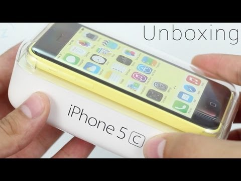 Yellow iPhone 5c Unboxing, Hands On