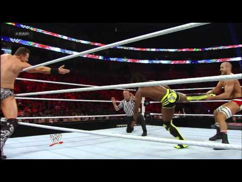 The Miz & Kofi Kingston vs. Antonio Cesaro & Wade Barrett: Raw, Dec. 24, 2012