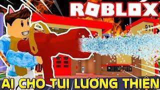 Roblox | KIA LƯƠNG THIỆN XÂY TRẠM CỨU HỎA CỨU THÀNH PHỐ - 🧯 🔥 Fire Station Tycoon 🚒 | KiA Phạm