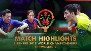 Xu Xin/Liu Shiwen vs Lee Sangsu/Jeon Jihee | 2019 World Championships Highlights (1/4)