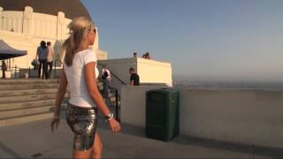 TAMIA IN HIGH HEELS AND THE BEAUTIFUL SKYLINE OF LOS ANGELES