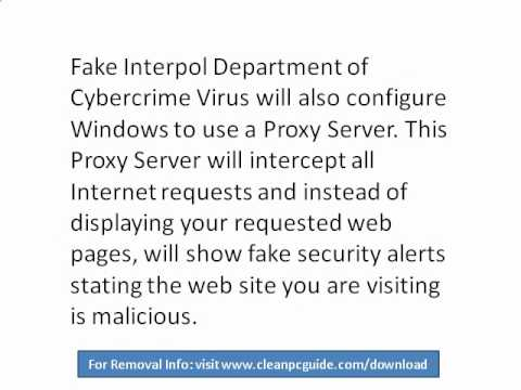 How To Remove Fake Interpol Department of Cybercrime Virus In 6 Minutes