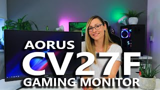 "Aorus CV27F Review - Their new 27"" 165Hz Curved Gaming Monitor"
