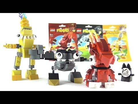 LEGO MIXELS Flain, Krader & Zaptor Figure Reviews | Votesaxon07