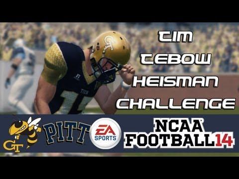 NCAA Football 14 Heisman Challenge: Tim Tebow EP9 - Surprising Test (Week 10 vs. Pitt)