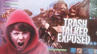 I MET THE BIGGEST TRASH TALKER on FORTNITE BATTLE ROYALE & WE WAGERED • Trash Talker EXPOSED!