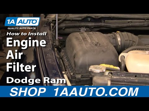 How To Install Repair Replace Change Engine Air Filter Dodge Ram 02-08 1AAuto.com
