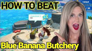 BLUE BANANA BUTCHERY! Reef Challenge #3 | Donkey Kong Adventure DLC