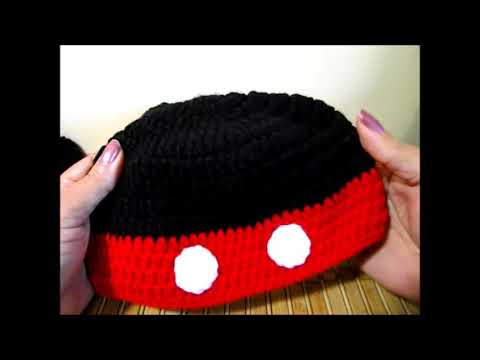 Crochet Gorrito Mikey Mouse