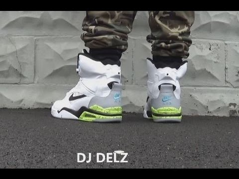 Nike Air Command Force Pump David Robinson White Men Cant Jump Billy Hoyle Shoe On Feet