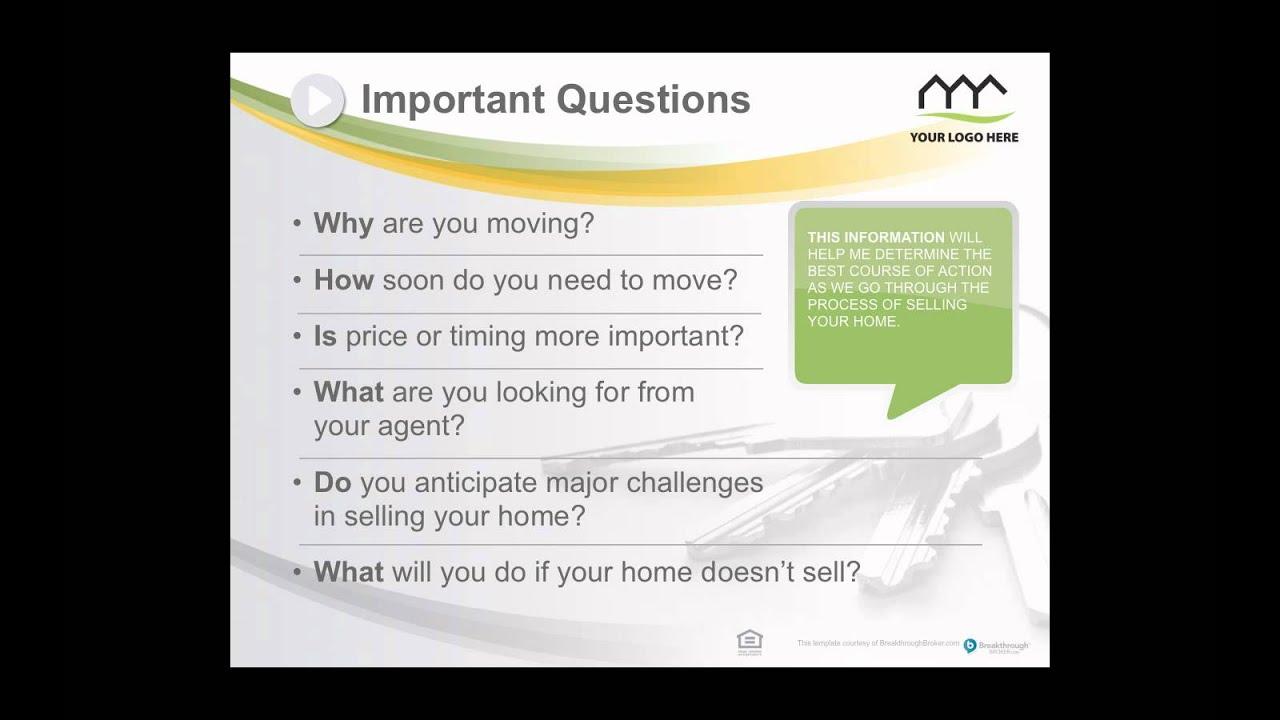 keynote real estate listing presentation