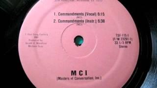 M.C.I (Masters Of Conversation Inc) - Commandments 1985