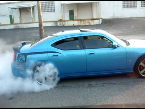 2008 charger srt8(superbee) burnout 2