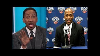 Stephen A. Smith reacts to Pekicans fire General Manager Dell Demps