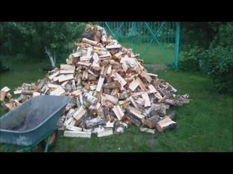 Дровеница своими руками + четыре куба березывых дров