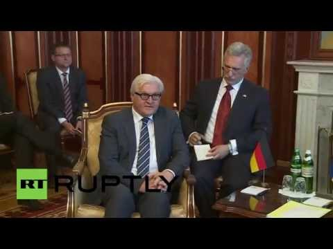 Ukraine: Steinmeier and Turchynov talk dialogue in Kiev