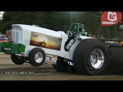 Light Super Stock alcohol tractors. PPL Rossville Illinois 2019