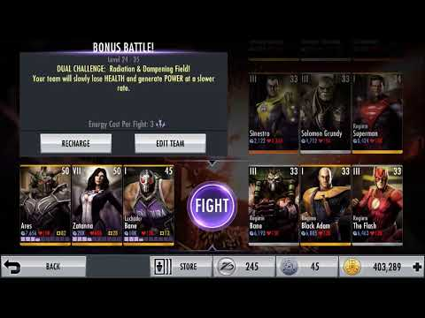 Injustice iOS *NEW CHARACTER* Ares Character Review