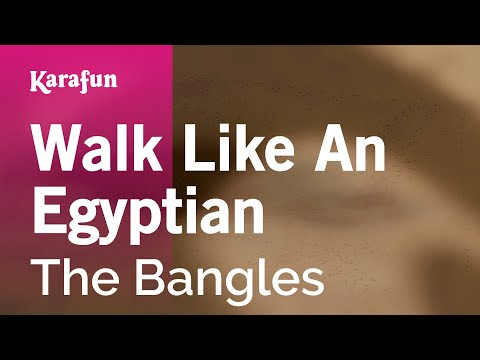 Karaoke Walk Like An Egyptian - The Bangles * video