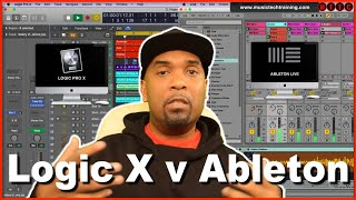Ableton vs Logic Pro X pt1 Screen Layout - A DAW or Digital Audio Workstation Comparison Tutorial