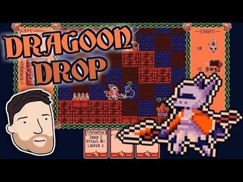 TURNBASED PLATFORMING CARD GAME?? Let's Play Dragoon Drop Graeme Games Ludum Dare 41