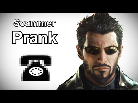 Adam Jensen Calls Indian Tech Support Scammers - Deus Ex Prank Call
