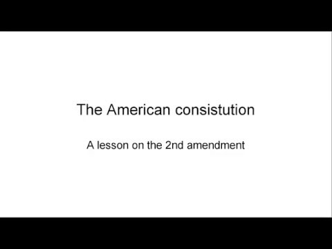 A 2nd Amendment lesson for some Americans