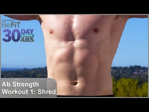 Ab strength workout 1 shred 30 day 6 pack abs
