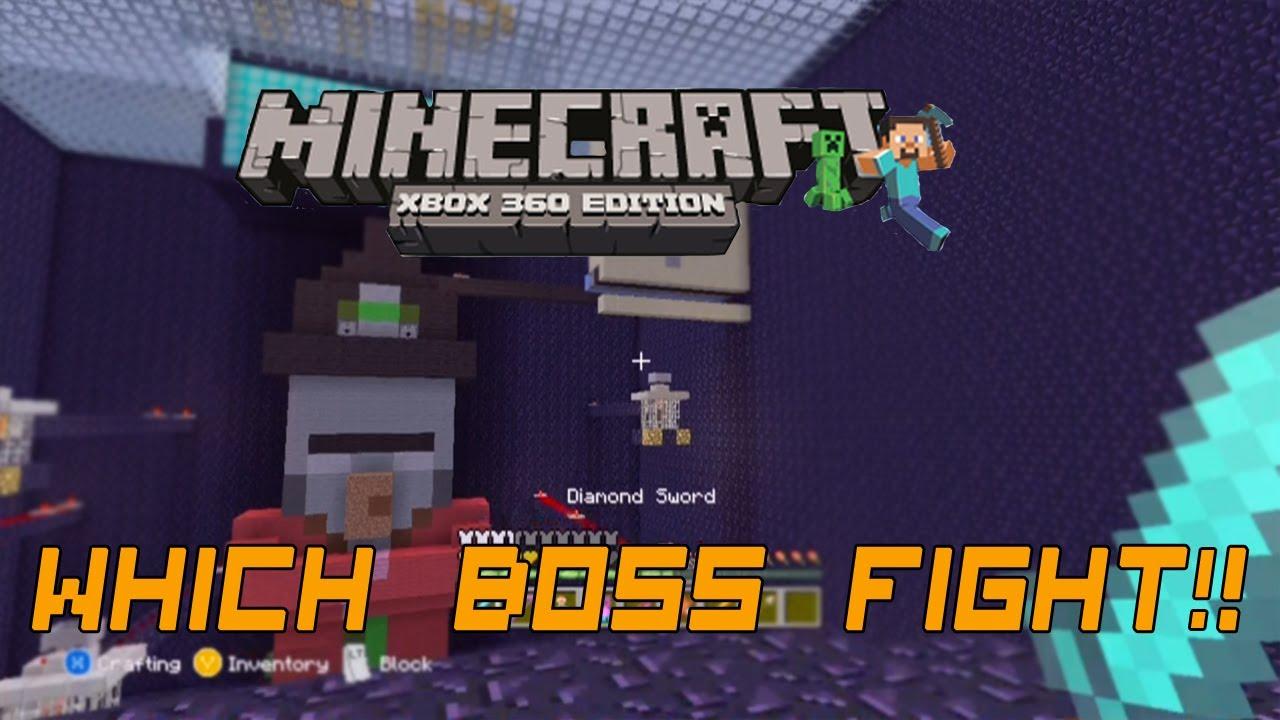 Minecraft Xbox 360-witch Boss