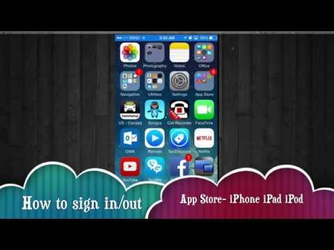 How to log out sign in different apple id app store iPhone iPad iPod