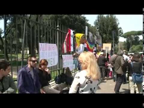 Roma.  Protesta contro i bombardamenti dell'Arabia  Saudita sullo Yemen
