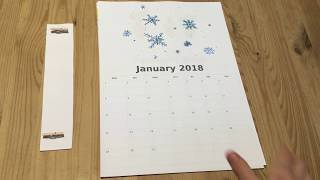 Quick and Easy 2018 Calendar, DIY Planner [Ad-Free Tutorial]