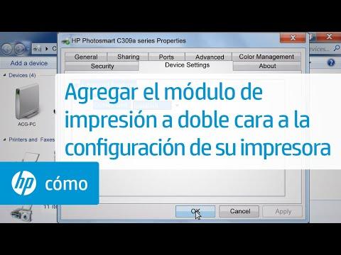 Agregar el módulo de impresión a doble cara a la configuración de su impresora | HP Computers | HP