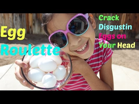 EGG ROULETTE  CHALLENGE |Crack Nasty Eggs on your Head |B2cutecupcakes
