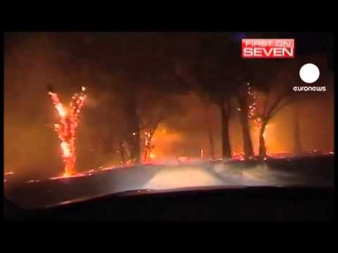 ROADS MELT ACROSS  AUSTRALIA AS SEVERE RECORD BREAKING HEATWAVE GRIPS THE OUTBACK (JAN 12, 2013)
