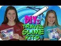 DIY TRAVEL SLIME KIT TUTORIAL || MAKE YOUR OWN SLIME KIT || Taylor and Vanessa