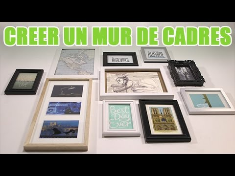 comment faire un mur de cadres photo diy avec youmakefashion youtube. Black Bedroom Furniture Sets. Home Design Ideas