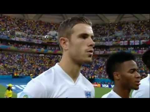 National Anthems ENGLAND vs ITALY FIFA World Cup 2014