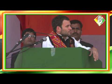 Rahul Gandhi Speaks on 'Equality For People' at a Public Rally in Mo Town, Nagaland
